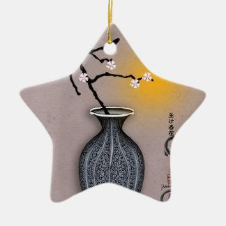 Ornement Étoile En Céramique la lune élégante des fernandes et la fleur de 7