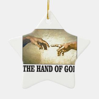 Ornement Étoile En Céramique la main d'un dieu