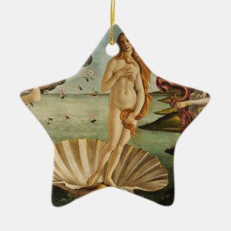 Ornement Étoile En Céramique La naissance de Vénus - Sandro Botticelli
