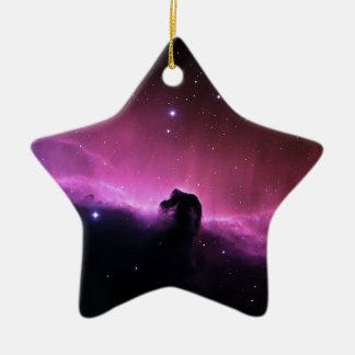 Ornement Étoile En Céramique La NASA de Barnard 33 de nébuleuse de Horsehead