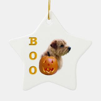 Ornement Étoile En Céramique La Norfolk Terrier Halloween huent