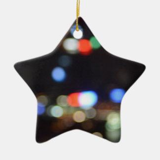 Ornement Étoile En Céramique La nuit avant Noël