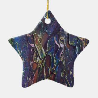 Ornement Étoile En Céramique La variété bleue d'herbe