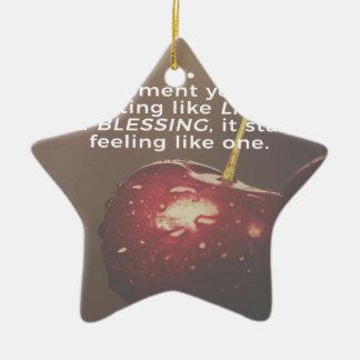 Ornement Étoile En Céramique La vie est une bénédiction