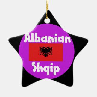 Ornement Étoile En Céramique Langue de l'Albanie et conception de drapeau