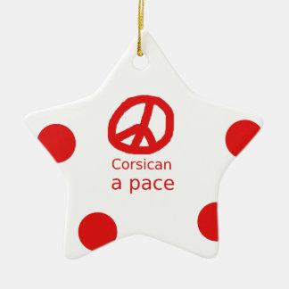 Ornement Étoile En Céramique Langue et conception corses de symbole de paix