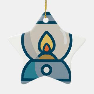 Ornement Étoile En Céramique Lanterne d'huile