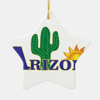 Ornement Étoile En Céramique l'Arizona bleu