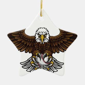 Ornement Étoile En Céramique Le base-ball d'Eagle folâtre la mascotte