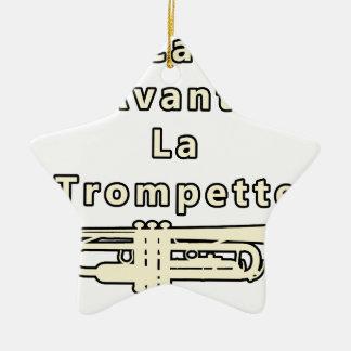 Ornement Étoile En Céramique Le Calme avant la Trompette - Jeux de Mots