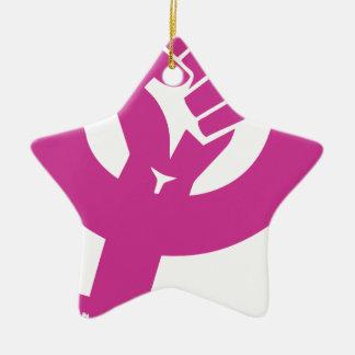 Ornement Étoile En Céramique Le genre féministe redresse le symbole