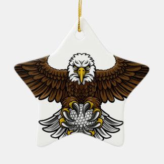 Ornement Étoile En Céramique Le golf d'Eagle folâtre la mascotte