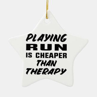 Ornement Étoile En Céramique Le jeu couru est meilleur marché que la thérapie