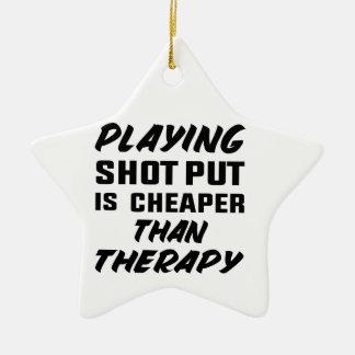 Ornement Étoile En Céramique Le jeu du tir Put est meilleur marché que la