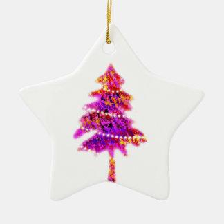 Ornement Étoile En Céramique Le joyeux arbre de vacances de Noël ornemente la