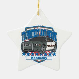 Ornement Étoile En Céramique Le Kentucky pour protéger et servir la voiture de