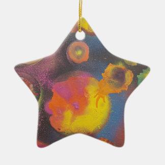 Ornement Étoile En Céramique Le Micro-Univers en évolution