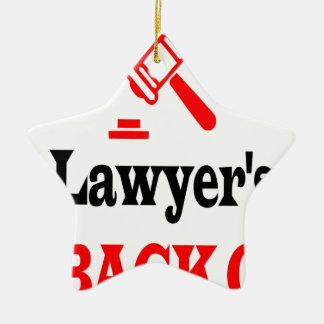 Ornement Étoile En Céramique Le papa de l'avocat