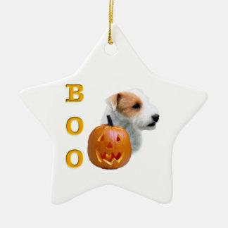 Ornement Étoile En Céramique Le pasteur cassé Russell Terrier Halloween de