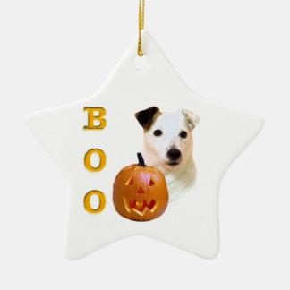 Ornement Étoile En Céramique Le pasteur lisse Russell Terrier Halloween de
