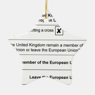 Ornement Étoile En Céramique Le référendum demeurent à l'UE