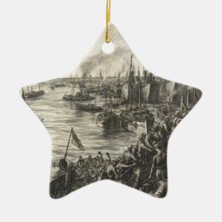 Ornement Étoile En Céramique Le retour de Dunkerque