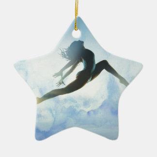 Ornement Étoile En Céramique Le saut du danseur