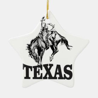 Ornement Étoile En Céramique Le Texas noir