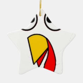 Ornement Étoile En Céramique Le thanksgiving Turquie font face au tee - shirt
