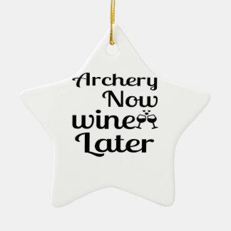 Ornement Étoile En Céramique Le tir à l'arc Wine maintenant plus tard