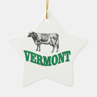 Ornement Étoile En Céramique le Vermont vert