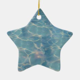 Ornement Étoile En Céramique L'eau d'océan
