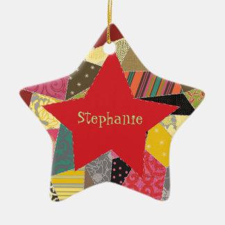 Ornement Étoile En Céramique L'édredon fol adorable ajoutent le nom