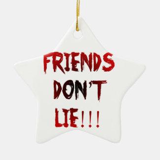 Ornement Étoile En Céramique Les amis ne se trouvent pas !