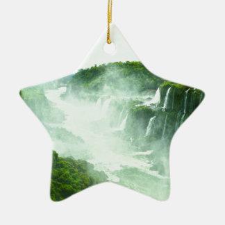 Ornement Étoile En Céramique Les chutes d'Iguaçu