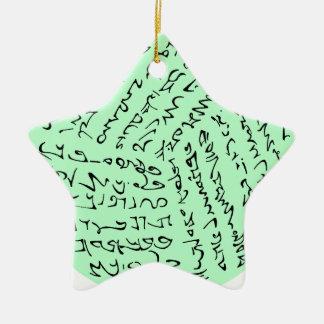 Ornement Étoile En Céramique les mots sont magiques (le vert en bon état)