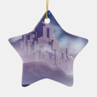 Ornement Étoile En Céramique L'étoile de Noël de l'illustration de Bethlehem