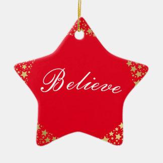 Ornement Étoile En Céramique L'étoile de Noël Ornement-Croient