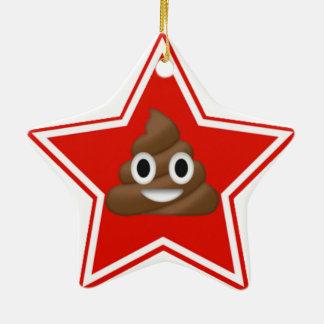 Ornement Étoile En Céramique L'étoile Emoji Poo Dble-A dégrossi
