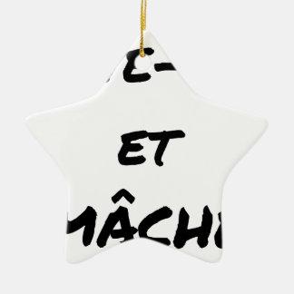Ornement Étoile En Céramique LÈVE-TOI ET MÂCHE - Jeux de mots - Francois Ville