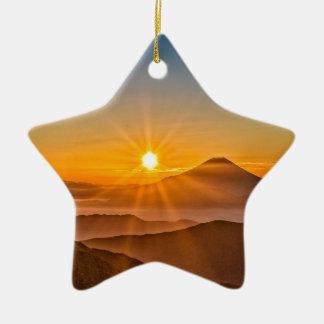 Ornement Étoile En Céramique Lever de soleil