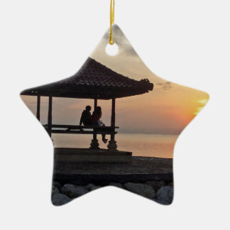 Ornement Étoile En Céramique Lever de soleil de Beautidul dans Bali