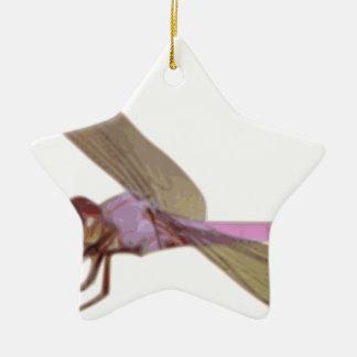 Ornement Étoile En Céramique Libellule