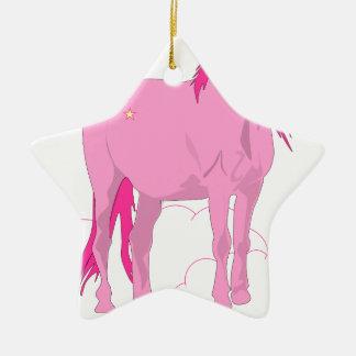 Ornement Étoile En Céramique licorne