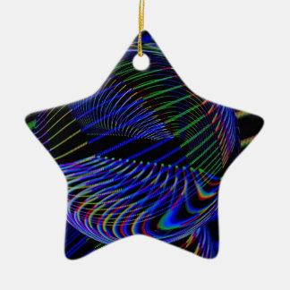 Ornement Étoile En Céramique Lignes de boule en verre