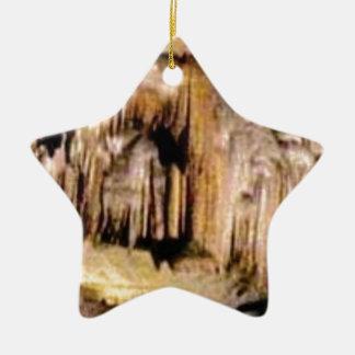 Ornement Étoile En Céramique lignes verticales dans les roches