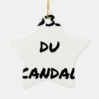 Ornement Étoile En Céramique L'OBJET DU SCANDALE - Jeux de mots -Francois Ville
