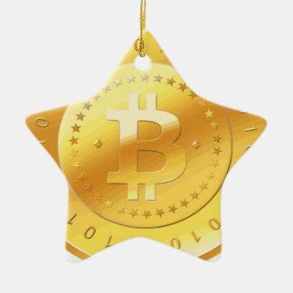 Ornement Étoile En Céramique Logo de Bitcoin