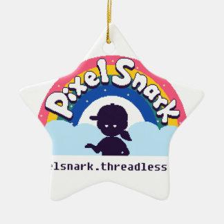Ornement Étoile En Céramique Logo de PixelSnark