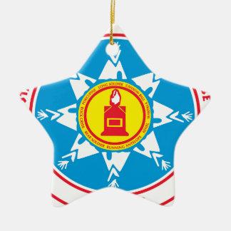 Ornement Étoile En Céramique Logo debout de tribu de roche